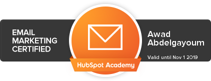 breaze8_awad_abdelgayoum_hubspot_email_marketing_certified